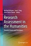 Research Assessment in the Humanities, Hans-Dieter Daniel, Michael Ochsner, Sven E. Hug