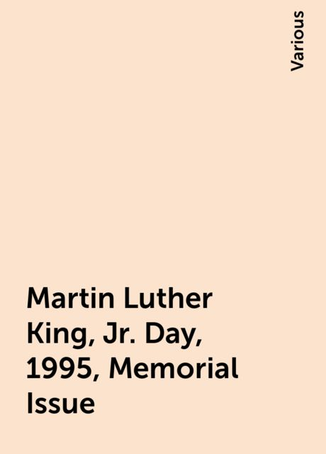 Martin Luther King, Jr. Day, 1995, Memorial Issue, Various