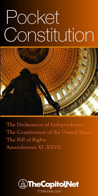 Pocket Constitution: The Declaration of Independence, Constitution and Amendments, Founding Fathers
