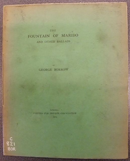The Fountain of Maribo / and other ballads, George Henry Borrow