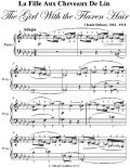 La La Fille Aux Cheveaux De Lin the Girl With the Flaxen Hair Elementary Piano Sheet Music, Claude Debussy
