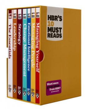 HBR's 10 Must Reads Boxed Set with Bonus Emotional Intelligence (7 Books) (HBR's 10 Must Reads), Peter Drucker, Clayton Christensen, Daniel Goleman, Harvard Business Review, Michael Porter