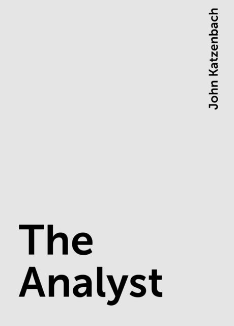 The Analyst, John Katzenbach