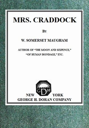 Mrs Craddock, William Somerset Maugham