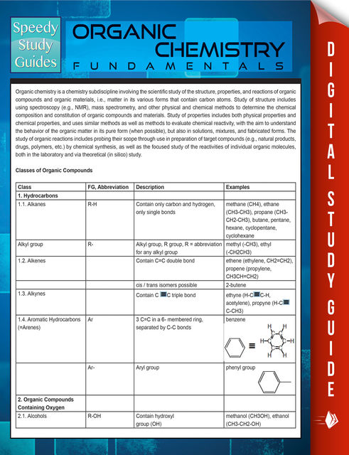 Organic Chemistry Fundamentals (Speedy Study Guides), Speedy Publishing