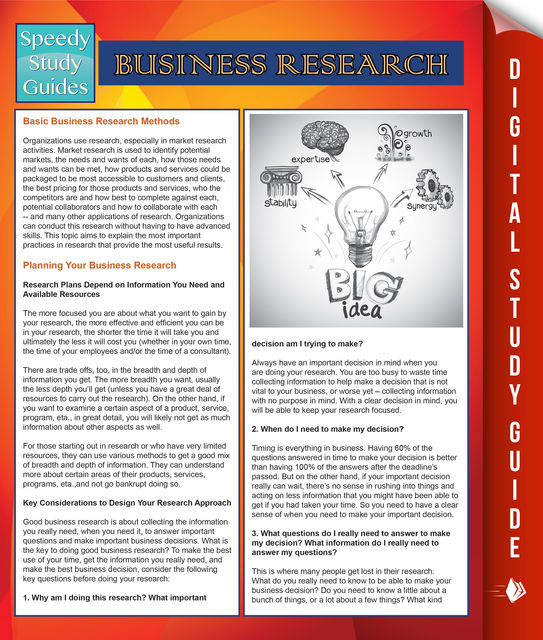 Business Research (Speedy Study Guides), Speedy Publishing