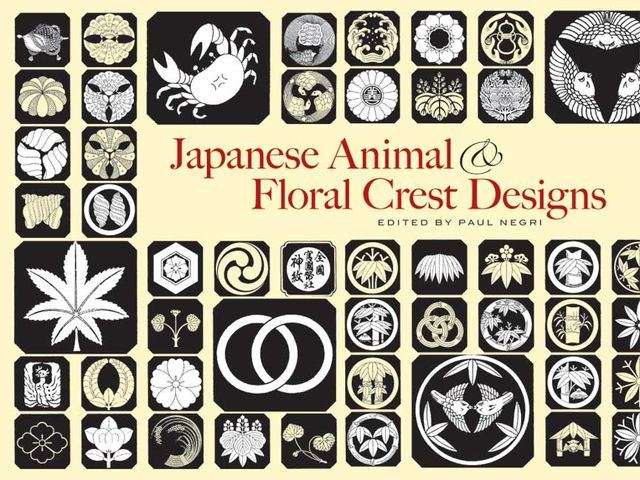 Japanese Animal and Floral Crest Designs, Paul Negri