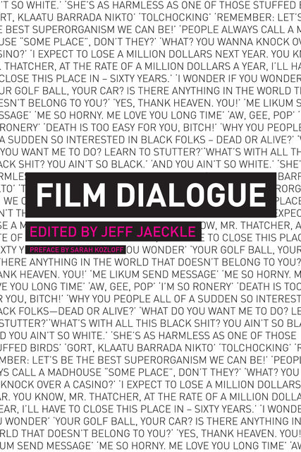 Film Dialogue, Edited by Jeff Jaeckle