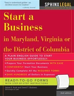 Start a Business in Maryland, Virginia, or the District of Columbia, James E. Burk