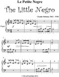 Le Le Petit Negre the Little Negro Beginner Piano Sheet Music, Claude Debussy