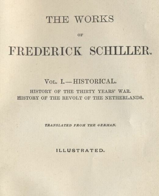 The History of the Thirty Years' War, Friedrich Schiller