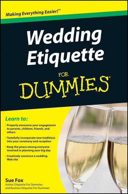 Wedding Etiquette For Dummies, Sue Fox