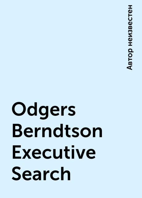 Odgers Berndtson Executive Search,