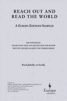 Reach Out and Read the World, Europa Editions