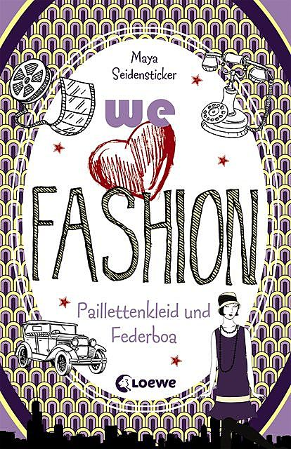 we love fashion 3 – Paillettenkleid und Federboa, Maya Seidensticker