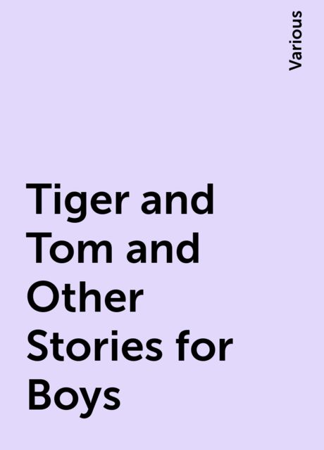 Tiger and Tom and Other Stories for Boys, Various