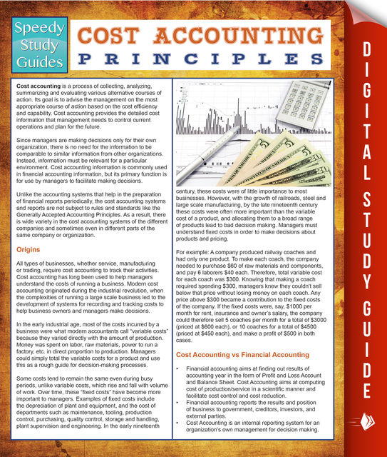Cost Accounting Principles (Speedy Study Guides), Speedy Publishing