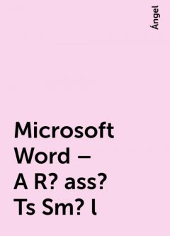Microsoft Word – A R?ass? Ts Sm?l, Ángel