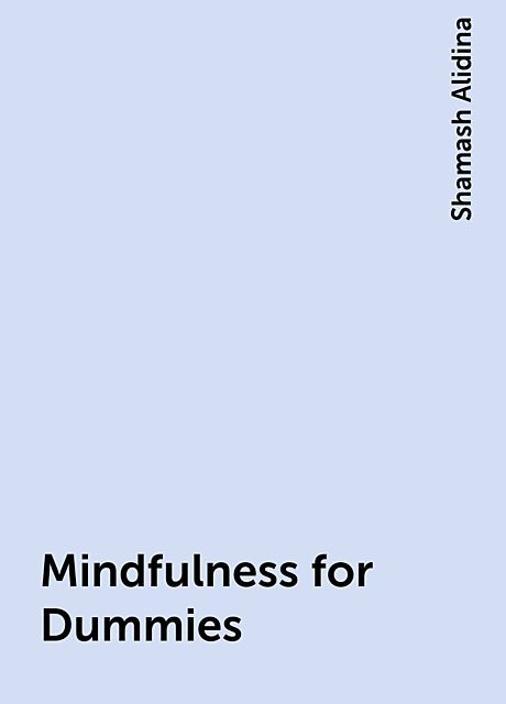 Mindfulness for Dummies, Shamash Alidina