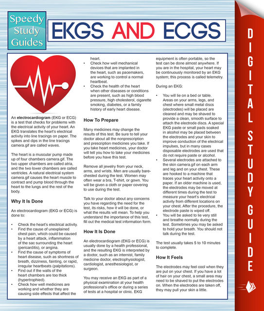 EKGS and ECGS (Speedy Study Guides), MDK Publishing