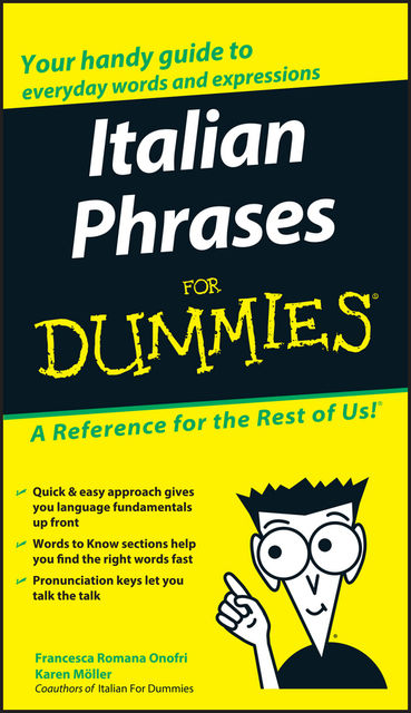Italian Phrases For Dummies, Francesca Romana Onofri