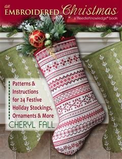 Embroidered Christmas, Cheryl Fall