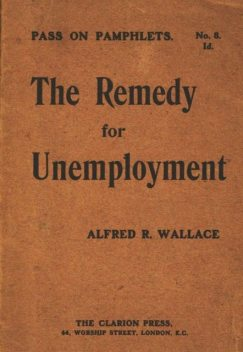 The Remedy for Unemployment, Alfred Russel Wallace