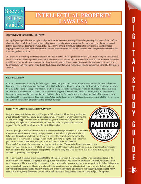Intellectual Property Laws USA, Speedy Publishing