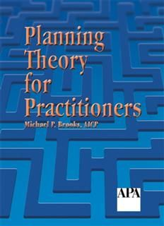 Planning Theory for Practitioners, Michael Brooks