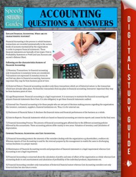 Accounting Questions & Answers, Speedy Publishing
