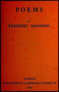 Poems, Frederic Manning