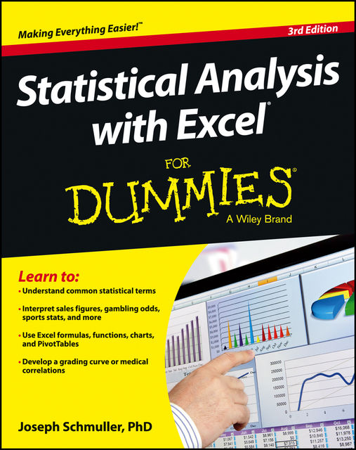 Statistical Analysis with Excel For Dummies, Joseph Schmuller