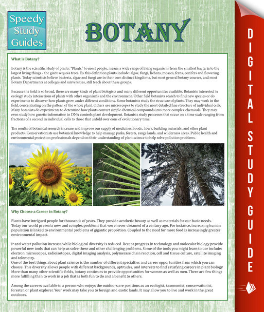 Botany (Speedy Study Guides), Speedy Publishing