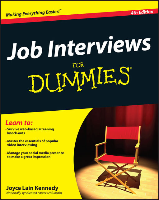Job Interviews For Dummies, Joyce Lain Kennedy