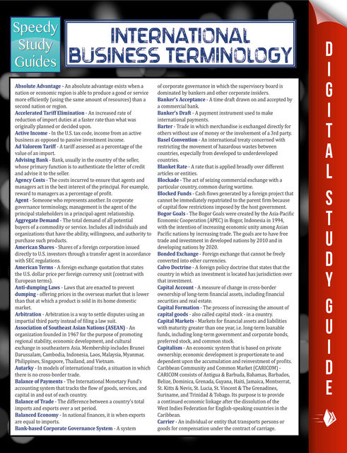 International Business Terminology (Speedy Study Guide), Speedy Publishing