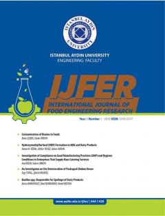 INTERNATIONAL JOURNAL OF FOOD ENGINEERING RESEARCH, Güner ARKUN