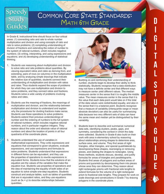 Common Core State Standards: Math 6th Grade (Speedy Study Guides), Speedy Publishing