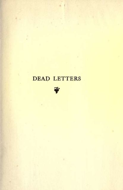 Dead letters, Maurice Baring