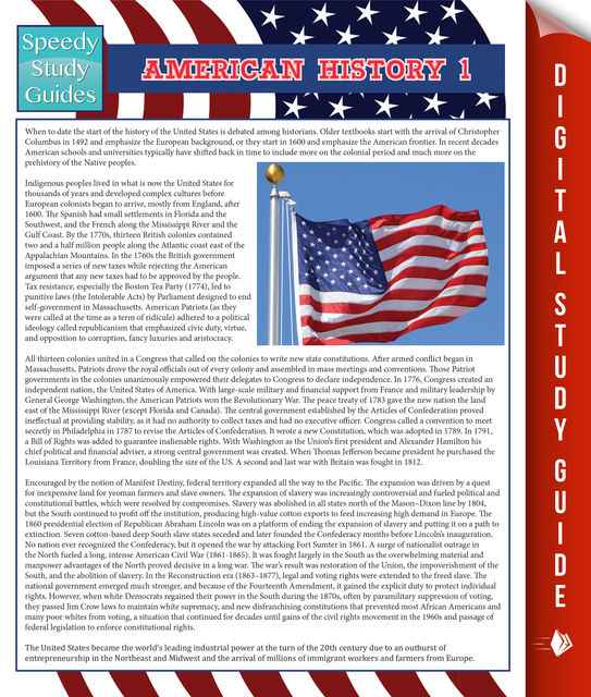 American History 1 (Speedy Study Guides), Speedy Publishing