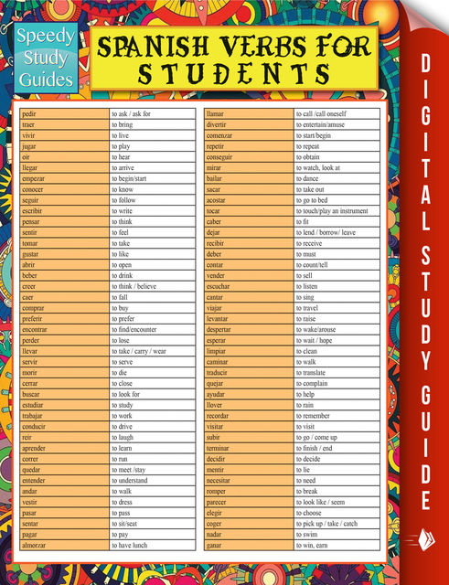Spanish Verbs For Students (Speedy Study Guide), Speedy Publishing