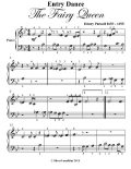 Entry Dance the Fairy Queen Beginner Piano Sheet Music, Henry Purcell