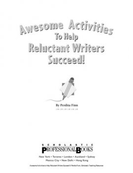 Awesome Activities to help Reluctant Writers, Finn