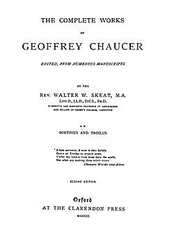 The Complete Works of Geoffrey Chaucer : Boethius and Troilus, Volume II (Illustrated), Geoffrey Chaucer