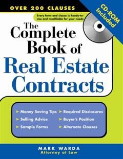 Complete Book of Real Estate Contracts, Mark Warda
