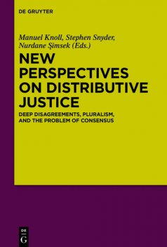 New Perspectives on Distributive Justice, Manuel Knoll, Stephen Snyder, Nurdane Şimsek