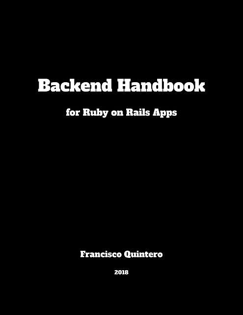 Backend Handbook, Francisco Quintero