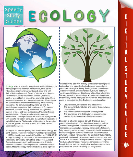 Ecology (Speedy Study Guides), Speedy Publishing