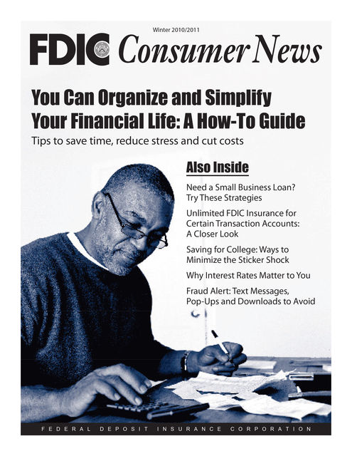 You Can Organize and Simplify Your Financial Life: A How-To Guide, Federal Deposit Insurance Corporation