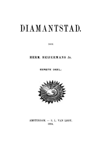 Diamantstad, Herman Heijermans