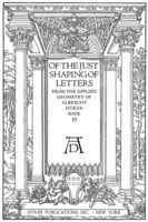 Of the Just Shaping of Letters, Albrecht Dürer